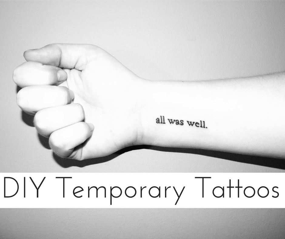 8 DIY Temporary Tattoos To Try Out