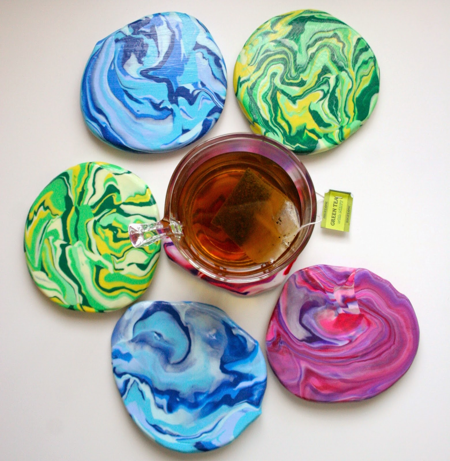 how to make coasters from artwork