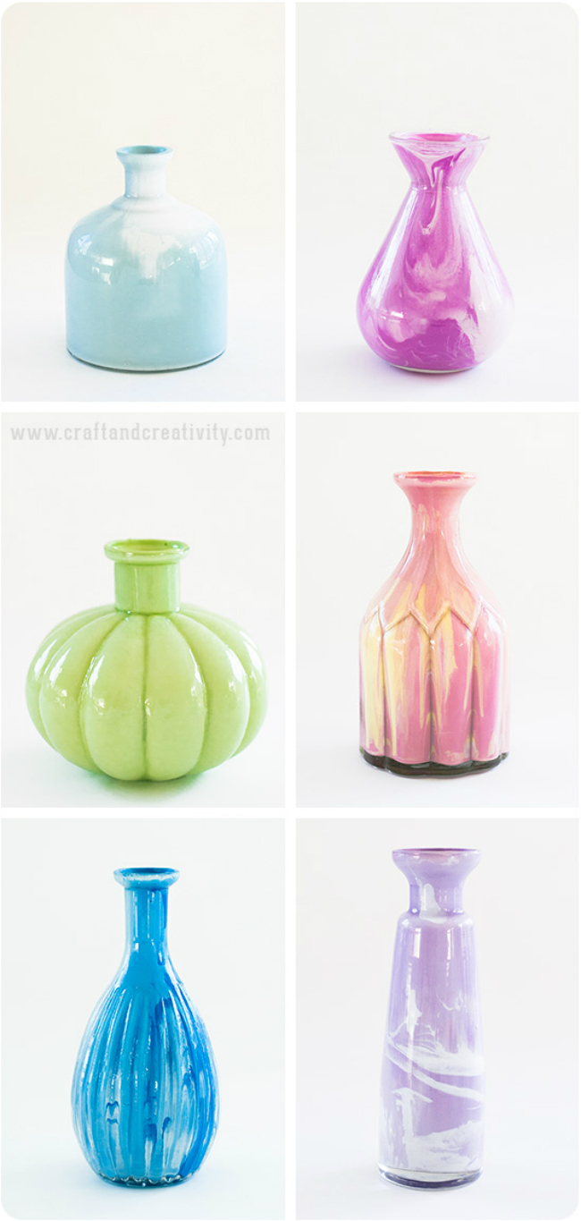 Marble Glass Vases