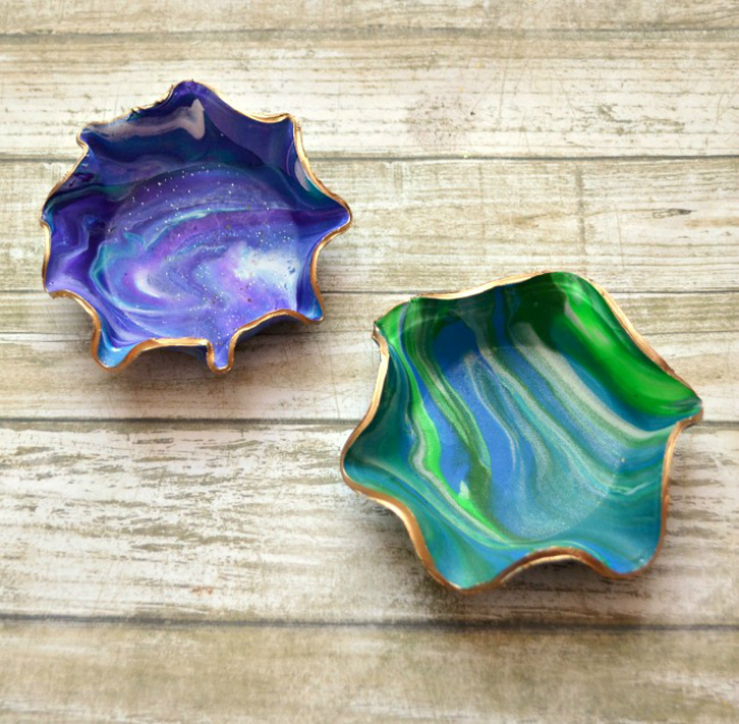 Marbled Jewel Dish