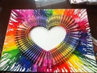 Melted Crayon Wall Art 200x150 Upcycle Broken Crayons with These Colorful DIY Projects