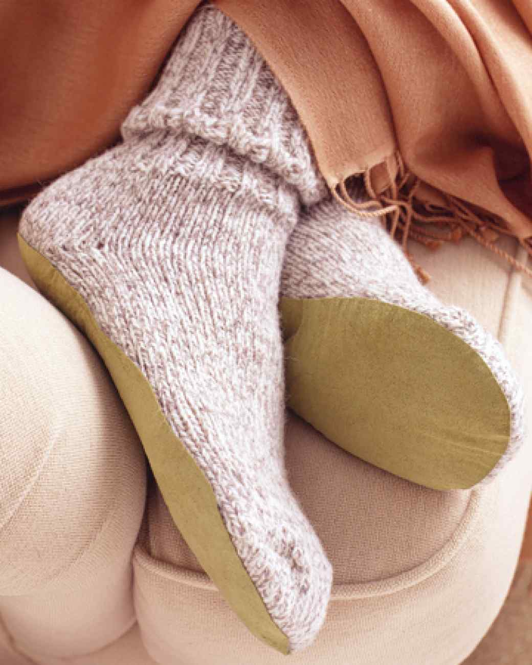 No-slip slipper socks