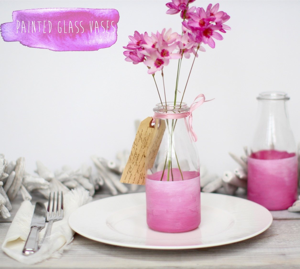 Ombre painted bottles