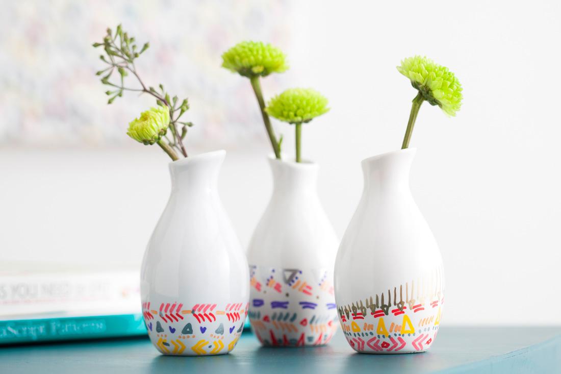 Paint marker vases