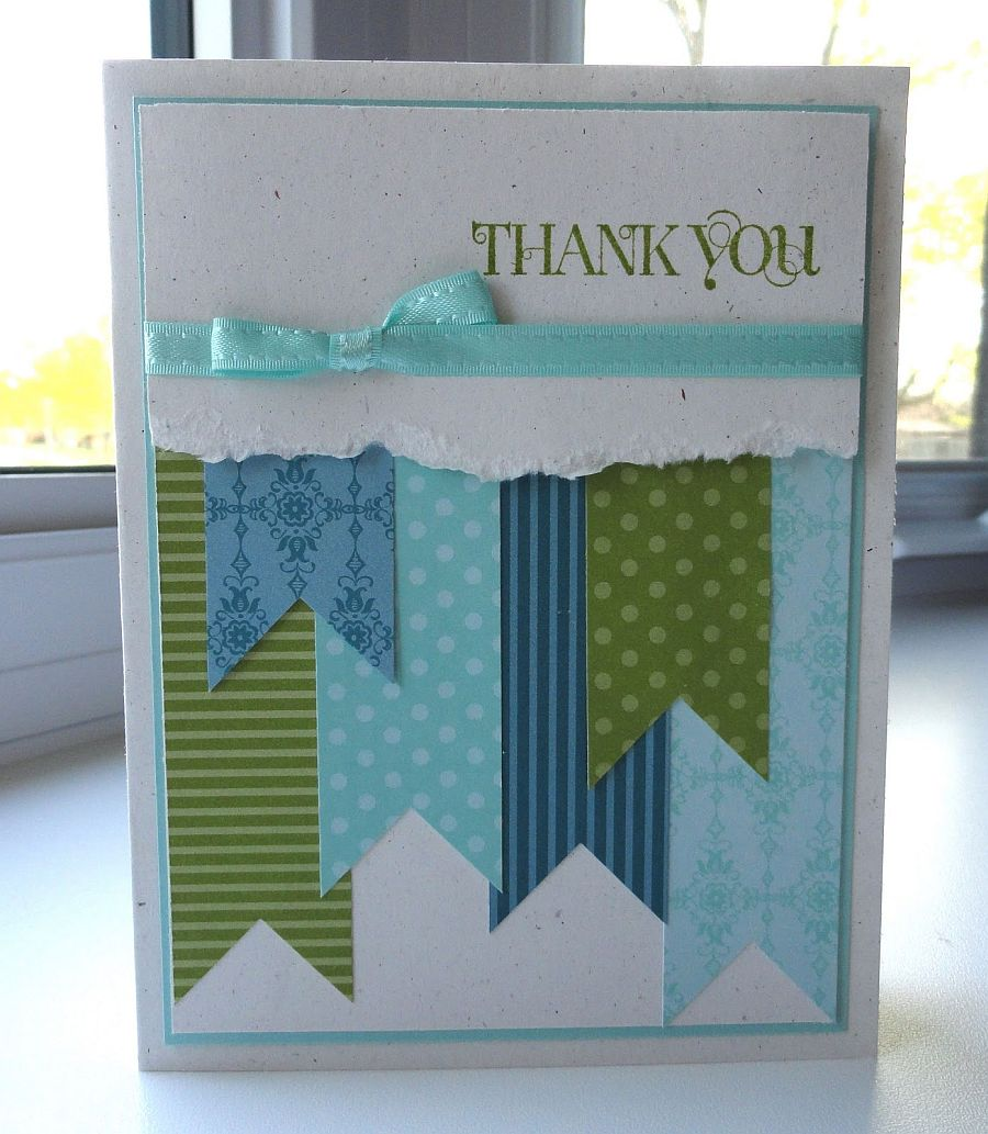 Paper Scraps Thank You Card