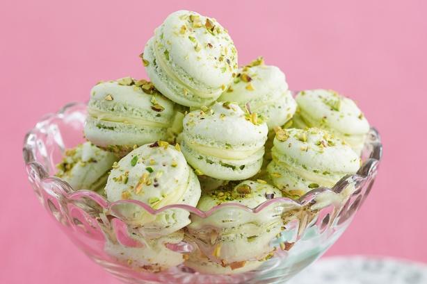 Pistachio-macarons