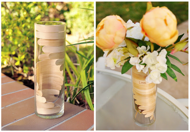 Popsicle stick vase