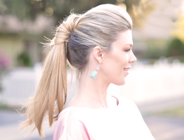 Pretty ponytail with a twist