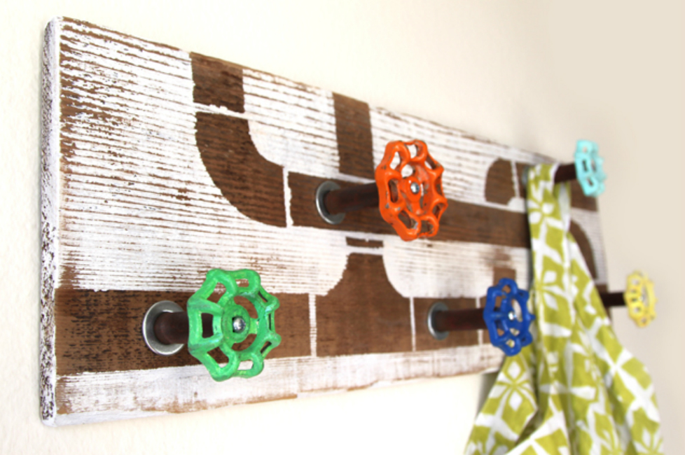 Reclaimed Wood and Tap Hook