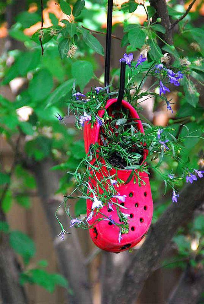 Red Croc Planter
