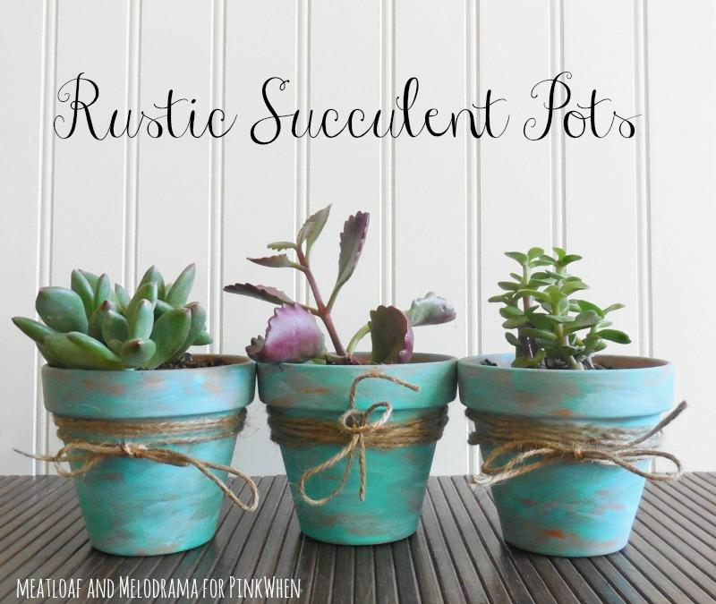 rustic succulent pots - Flower Pot Ideas