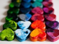 Shaped Rainbow Crayons 200x150 Upcycle Broken Crayons with These Colorful DIY Projects
