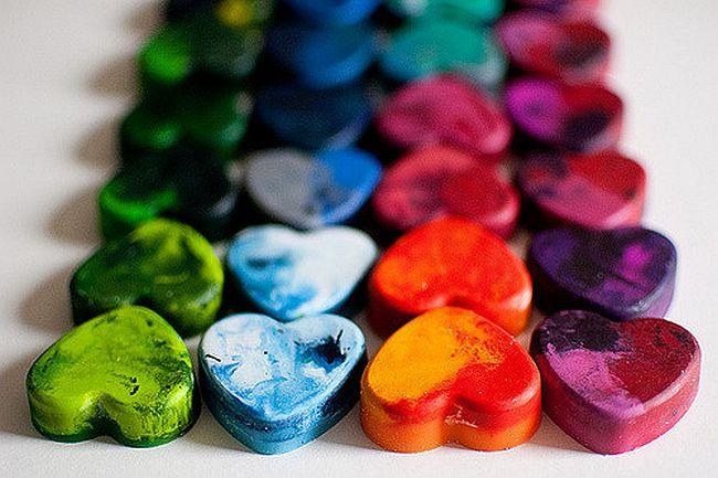 Shaped Rainbow Crayons