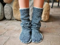Slipper boots 200x150 Fashionable DIY Slippers That Will Also Keep You Cozy