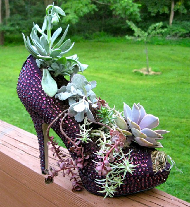Sparkle Heel Planter