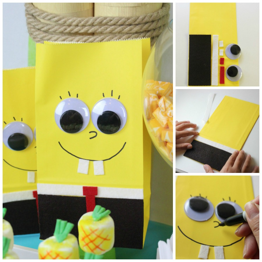 VIEW IN GALLERY Spongebob Party Favor Craft