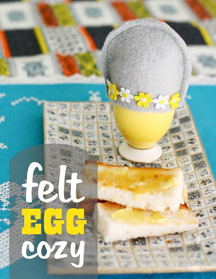 Spring Felt Egg Cosy