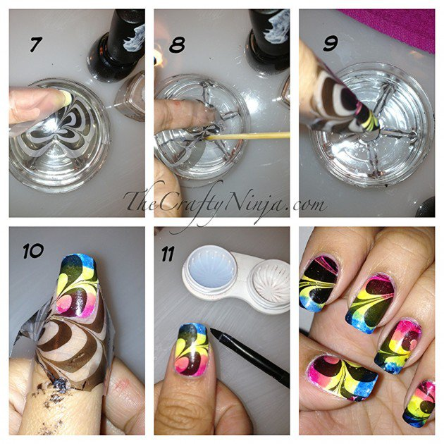 Nail Polish In Water Step By Step Hession Hairdressing