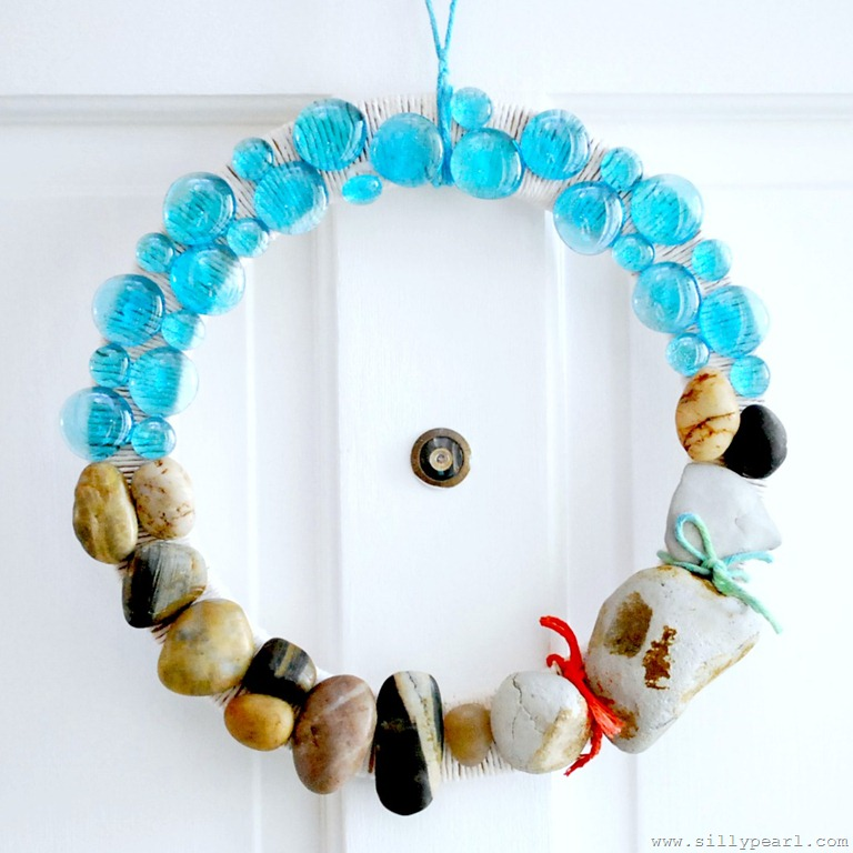 Summer Beach Rock Wreath