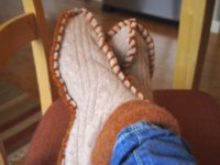 Sweater slippers 200x150 Fashionable DIY Slippers That Will Also Keep You Cozy