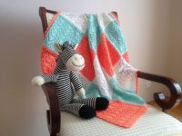 Sweethearts blanket 200x150 15 Adorable Knitted Valentines Day Gifts