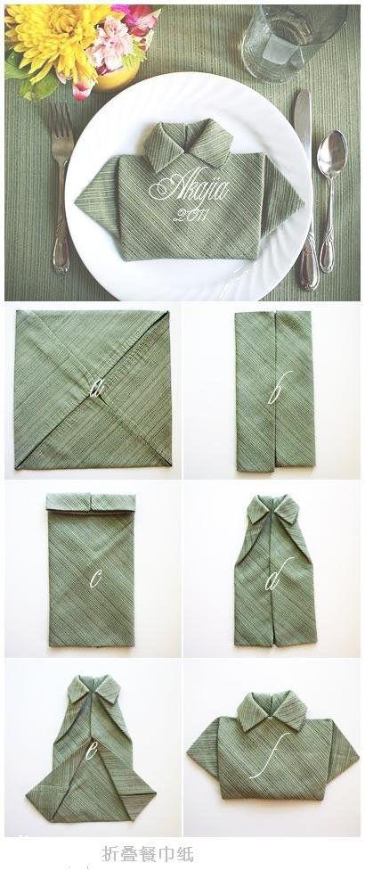 T-shirt napkin