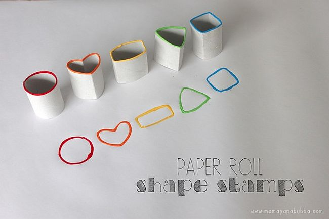 Toilet Paper Roll Stamps
