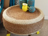 Trendy Rope Table 200x150 9 Ways To Upcycle Old Tires