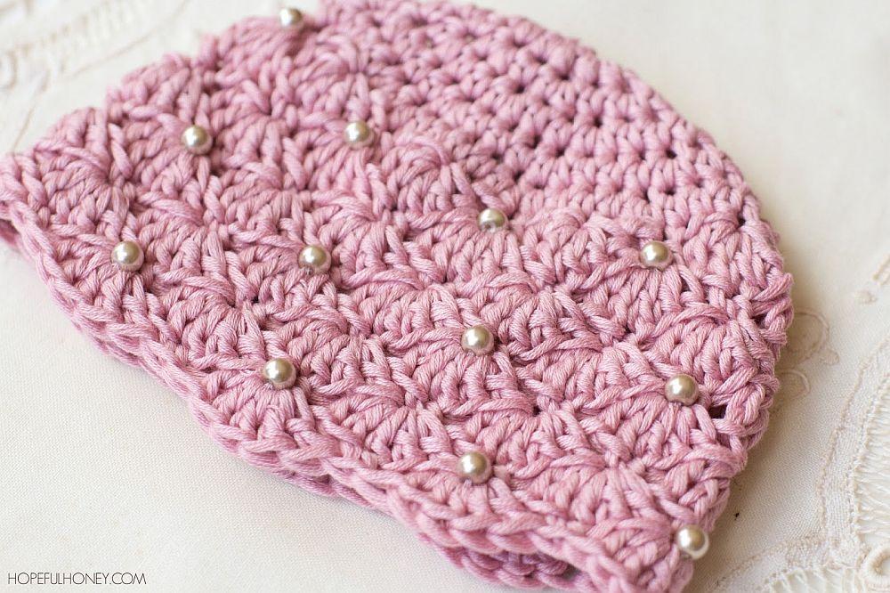 Vintage Pearl Baby Hat