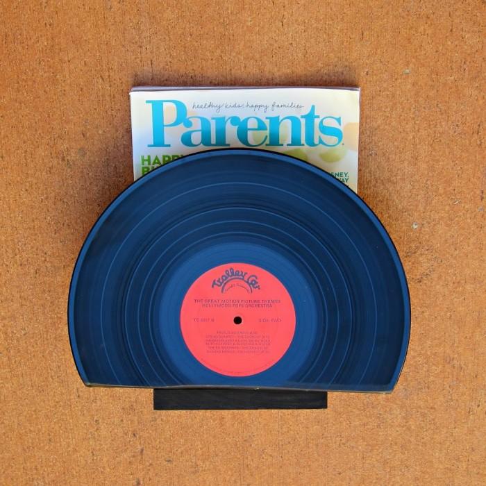 Vinyl Magazine Rack