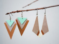 Wood Earrings 200x150 9 Fun Tutorials to Make Your Own Eco Friendly Jewellery