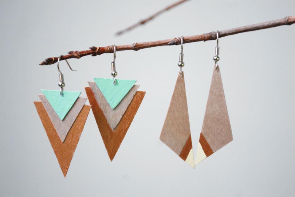 View In Gallery Wood Earrings