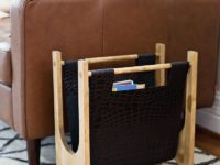 Wood and Leather Magazine Rack 200x150 Easy DIY Magazine Racks to Make