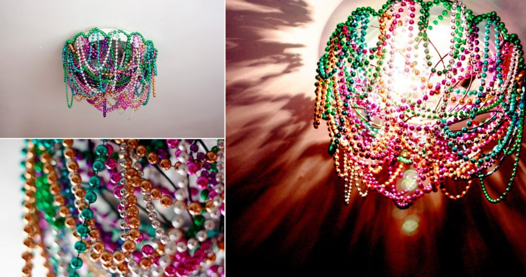 beaded mardi gras light