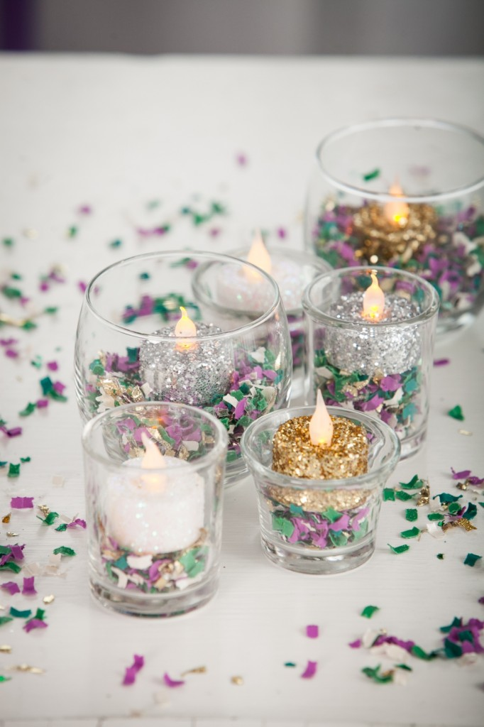 Candles for mardi gras