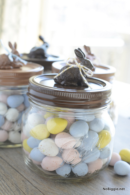 chocolate bunny jars