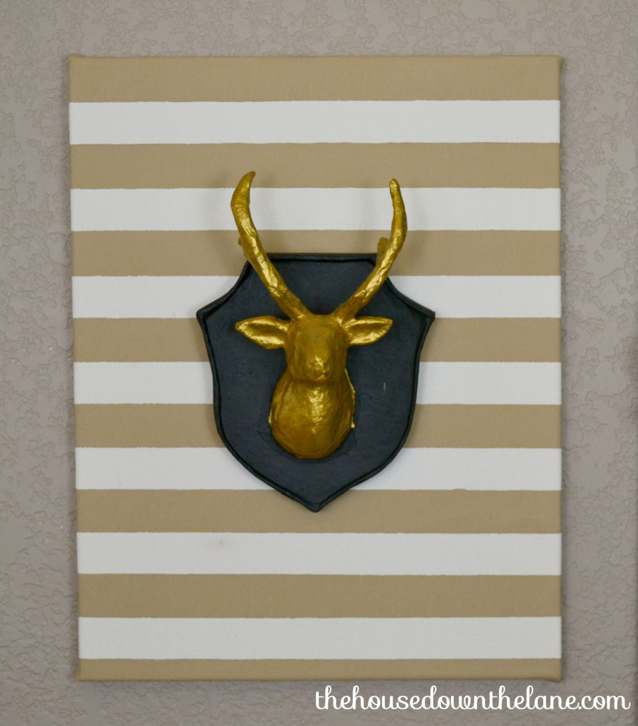 Deer and antlers canvas