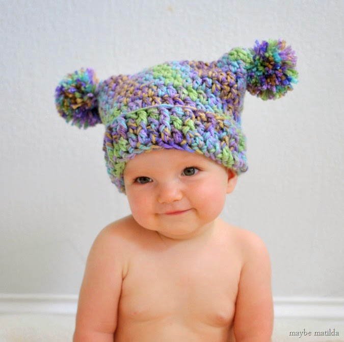 View in gallery double pom pom hat