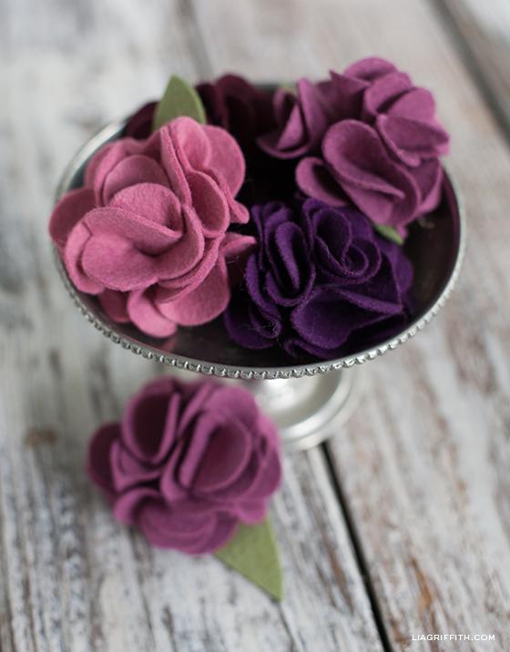 felt carnations