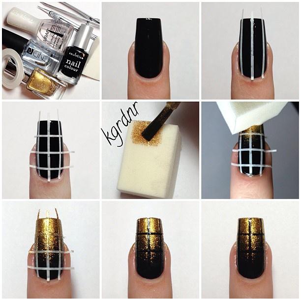 glitter-grid-nails