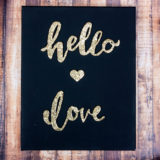 Dazzling and Dark: DIY Projects for Lovers of Gold and Black!