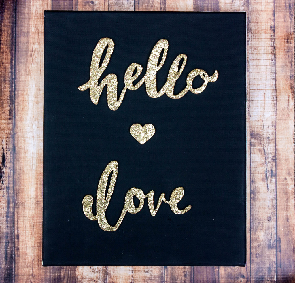 glitter-words-canvas-art