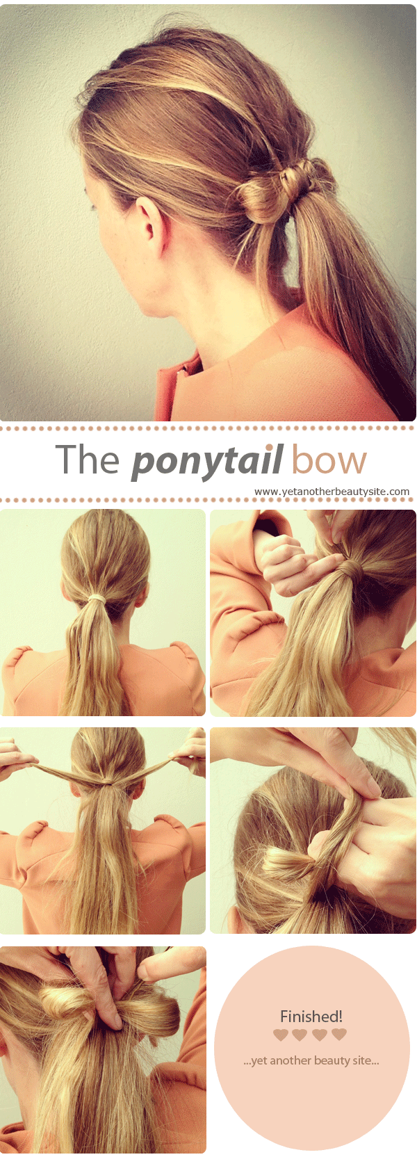Hair bow ponytail