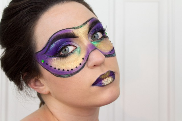 makeup mardi gras mask