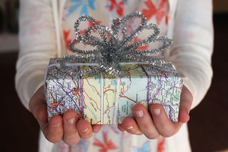 map-wrapping-paper