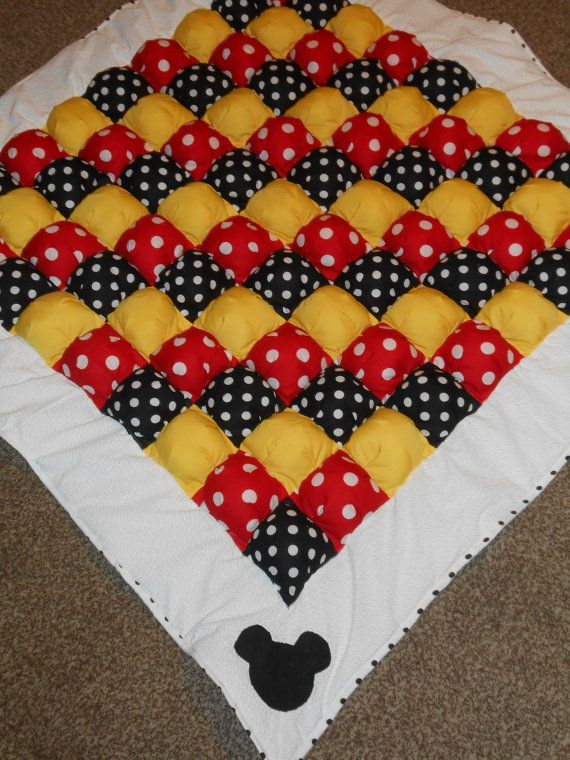 Mickey Mouse bubble quilt