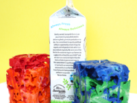 milk carton candles 200x150 Youll Love These Incredible Upcycled Art Projects for Kids!