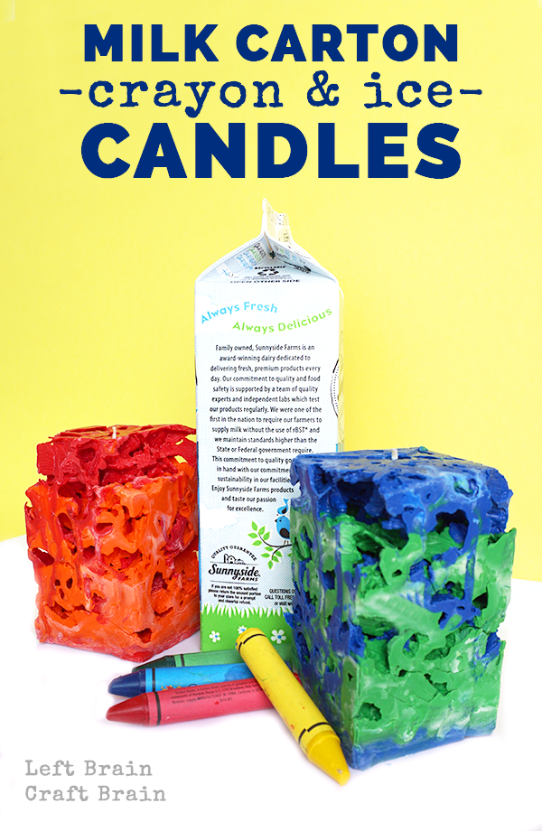 milk carton candles