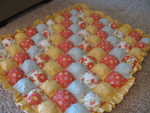 orange-flowers-bubble-quilt