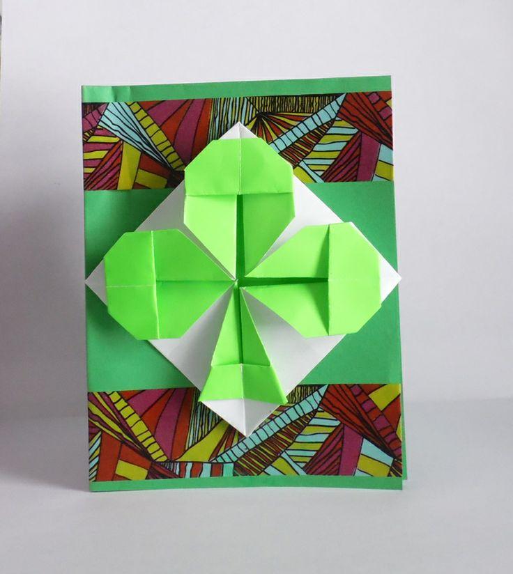 origami shamrock